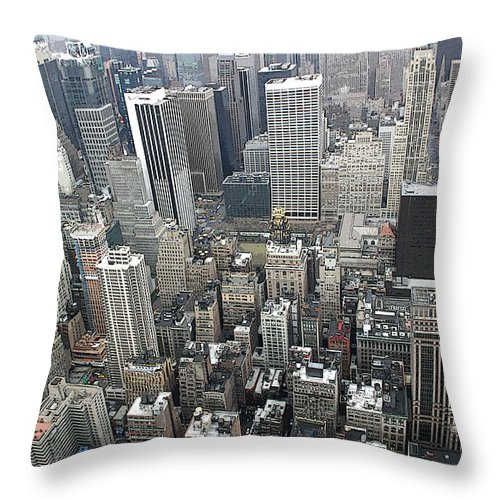 New York City Throw Pillow featuring the photograph Skyhigh by Mary Haber