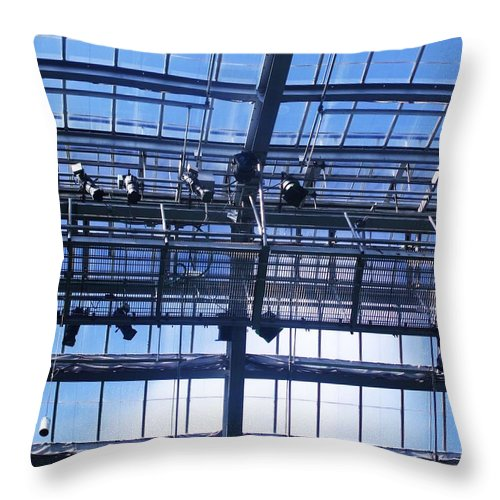 Metal Throw Pillow featuring the photograph Skylight by Anna Villarreal Garbis