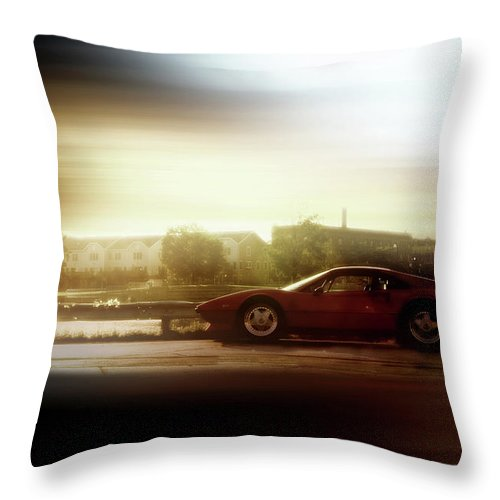 Menasha Throw Pillow featuring the photograph Skyline Speed by Joel Witmeyer