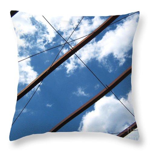 Artoffoxvox Throw Pillow featuring the photograph Skylines Photograph by Kristen Fox