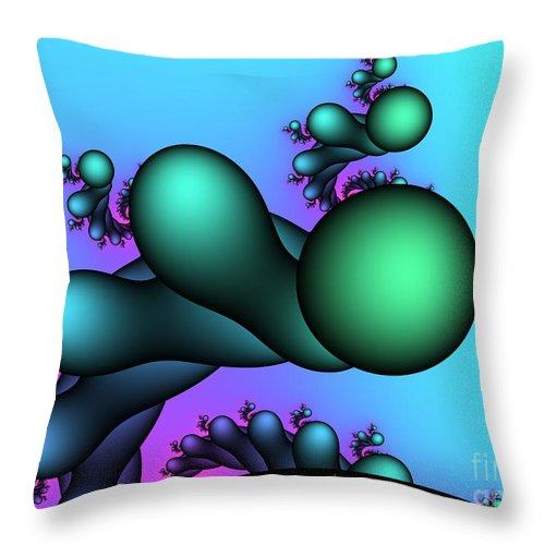 Fractal Throw Pillow featuring the digital art Skyscraper by Jutta Maria Pusl