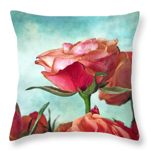 Flower Throw Pillow featuring the photograph Skyward by Jessica Jenney