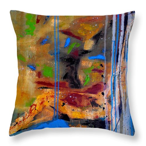 Abstract Throw Pillow featuring the painting Skyward by Ruth Palmer