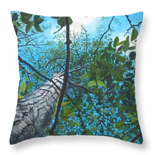 Landscape Throw Pillow featuring the painting Skyward by William Brody