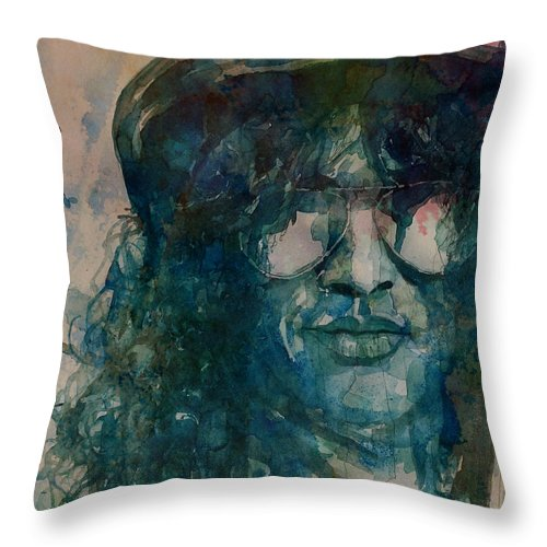 Slash Throw Pillow featuring the painting Slash by Paul Lovering