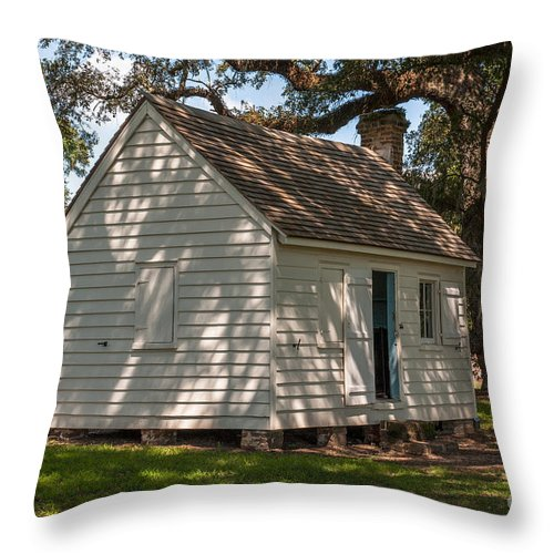 Slave Cabin Throw Pillow featuring the photograph Slave Cabin by Dale Powell
