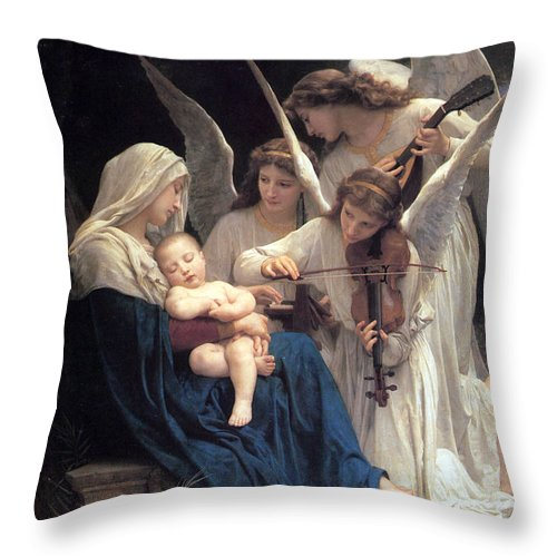 Angel Throw Pillow featuring the photograph Sleeping Baby Jesus by Munir Alawi