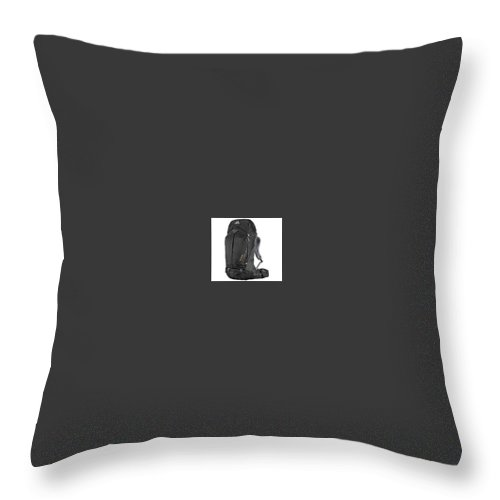 Throw Pillow featuring the photograph Sleeping Bags Reviews by Gear Head Junkie