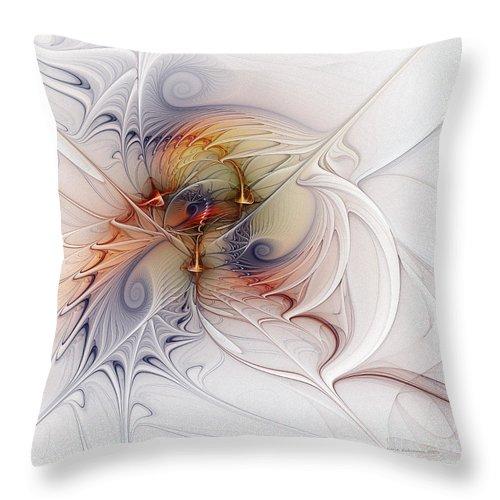 Abstract Throw Pillow featuring the digital art Sleeping Beauties by Karin Kuhlmann