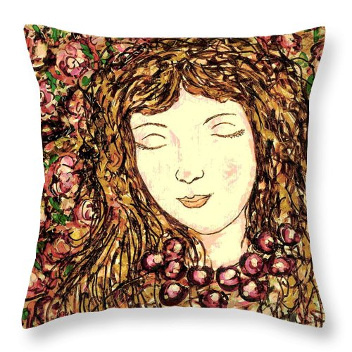 Sleeping Beauty Throw Pillow featuring the painting Sleeping Beauty by Natalie Holland