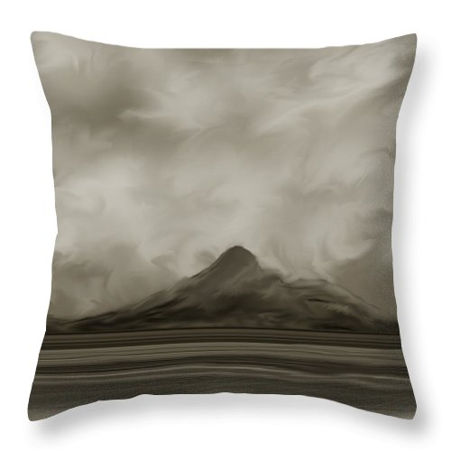 Wyoming Throw Pillow featuring the painting Sleeping Giant And Beck Lake by Anne Norskog