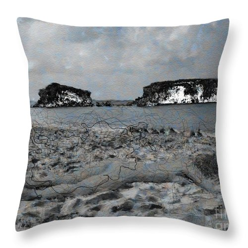 Nude Throw Pillow featuring the photograph Sleeping It Off by Dee Flouton