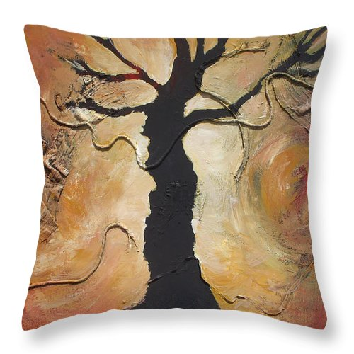 Trees Throw Pillow featuring the painting Sleepy Hollow by Jennifer Bonset