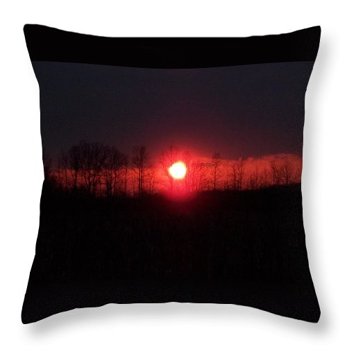 Sun Throw Pillow featuring the photograph Slice Sunset by Michelle Miron-Rebbe