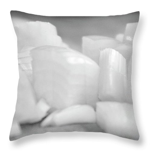 Onion Throw Pillow featuring the photograph Sliced Onion by Frances Lewis