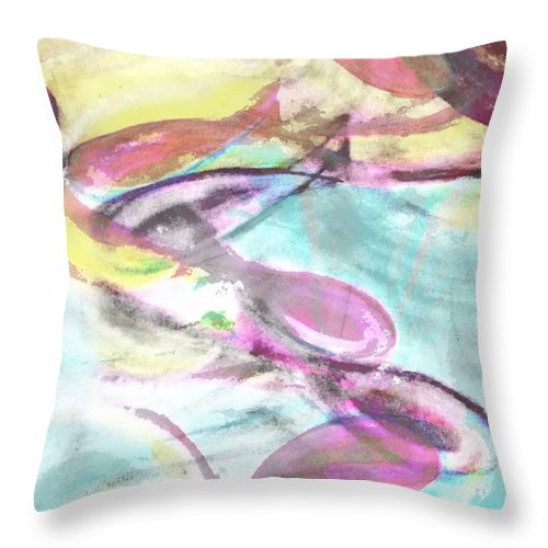 Throw Pillow featuring the digital art Slippery Fish by Jeffrey Todd Moore