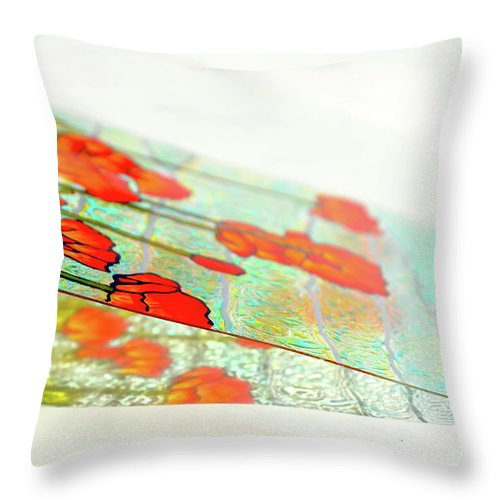 Painting Throw Pillow featuring the photograph Sloping Down by Farah Faizal