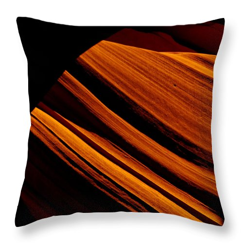 Slot Canyon Throw Pillow featuring the photograph Slot Canyon Striations by Scott Sawyer