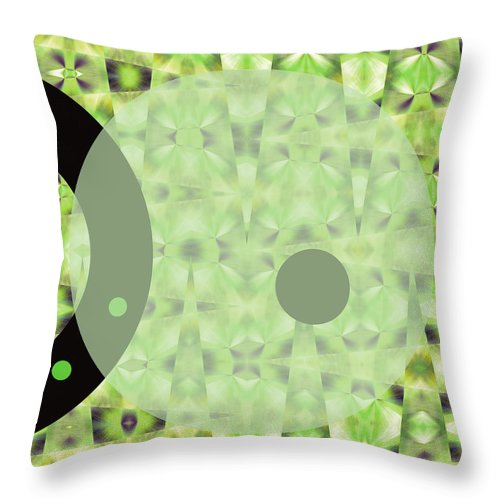 Abstract Throw Pillow featuring the digital art Slow Fade by Ruth Palmer