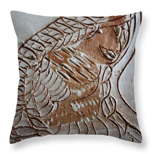 Jesus Throw Pillow featuring the ceramic art Slumber - Tile by Gloria Ssali