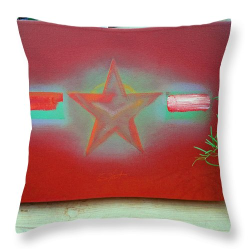 Painting Throw Pillow featuring the painting Small Canvas In The Studio by Charles Stuart