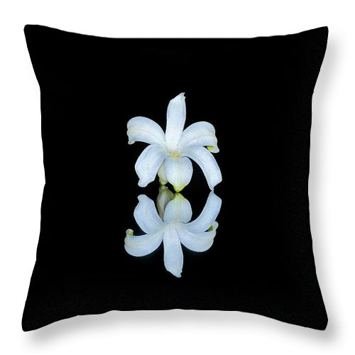 Flower Throw Pillow featuring the photograph Small Reflection by David Hayden