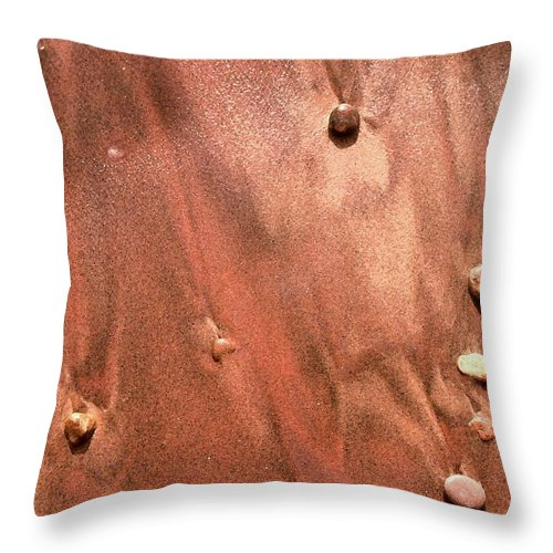 Abstract Throw Pillow featuring the photograph Small Stones And Sand Two by Lyle Crump