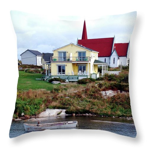 Church Throw Pillow featuring the photograph Small Village by Kathleen Struckle