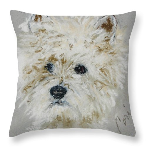 Westy Throw Pillow featuring the drawing Small Wonders by Cori Solomon