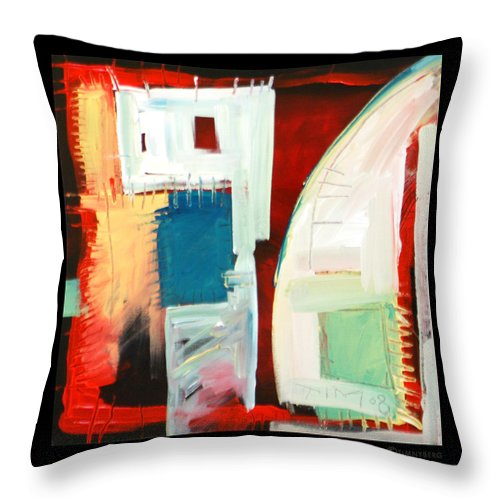 Color Throw Pillow featuring the painting Smilin by Tim Nyberg