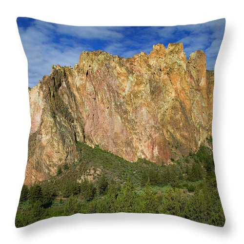 Landscape Throw Pillow featuring the photograph Smith Rock Oregon by Randall Ingalls