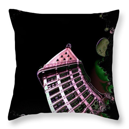 Seattle Throw Pillow featuring the photograph Smith Tower Reflect 1 by Tim Allen