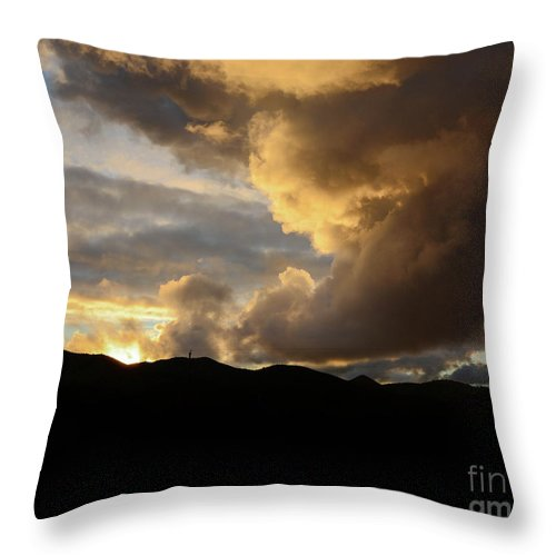 Sunset Throw Pillow featuring the photograph Smoke Like Sunset by Katie Brown