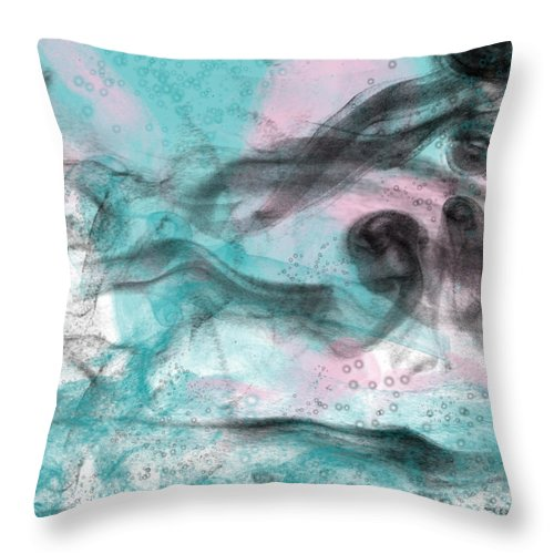 Smoke Throw Pillow featuring the digital art Smoke Shadow's by Fay Lawrence