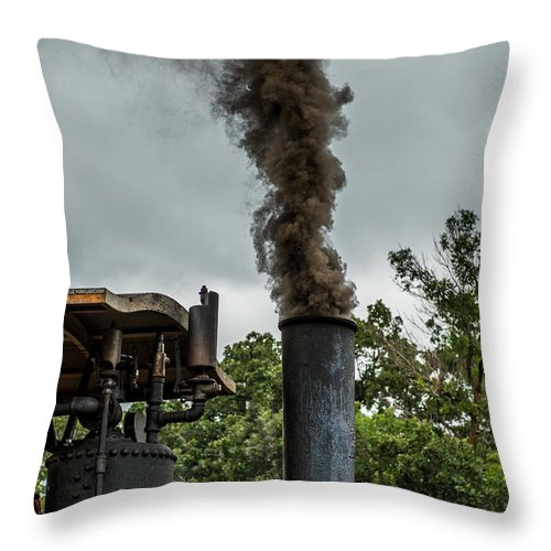 Rumley Throw Pillow featuring the photograph Smokin by Paul Freidlund