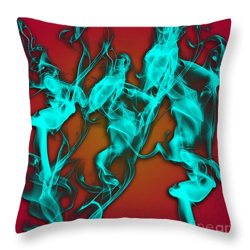 Clay Throw Pillow featuring the digital art Smoky Shadows by Clayton Bruster