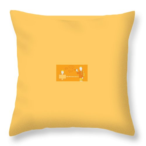 Bulk Sms Throw Pillow featuring the digital art SMS Gateway - A smartest way to reach huge audience by Natasha Williams
