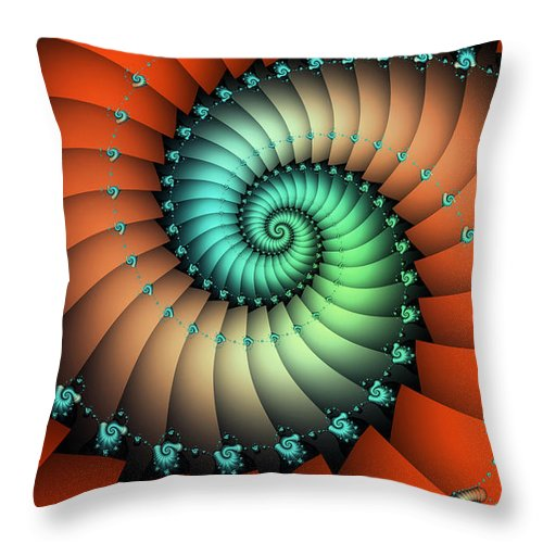 Fractal Throw Pillow featuring the digital art Snails On The Way by Jutta Maria Pusl