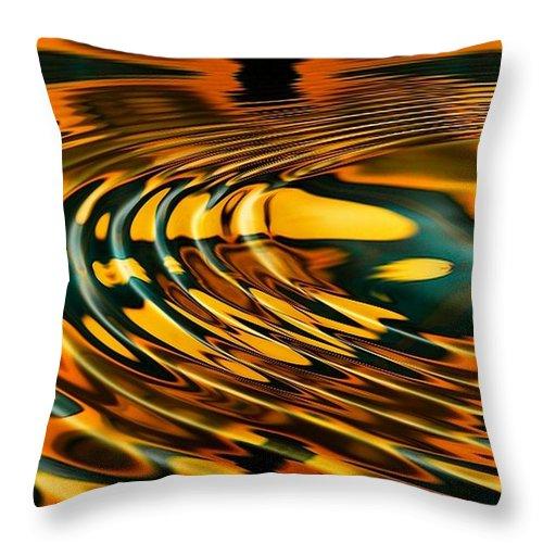 Ripple Throw Pillow featuring the digital art Snake Oil by Robert Orinski