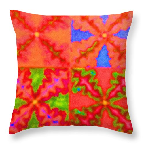 Snake Throw Pillow featuring the digital art Snakey by April Patterson