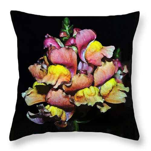 Snapdragon Throw Pillow featuring the photograph Snapdragons by Al Mueller