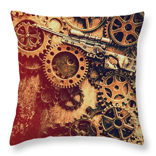 Sniper Throw Pillow featuring the photograph Sniper Rifle Fine Art by Jorgo Photography - Wall Art Gallery