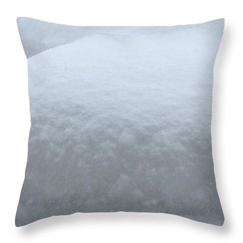 Snow Throw Pillow featuring the photograph Snow Abstract by Barbara Griffin