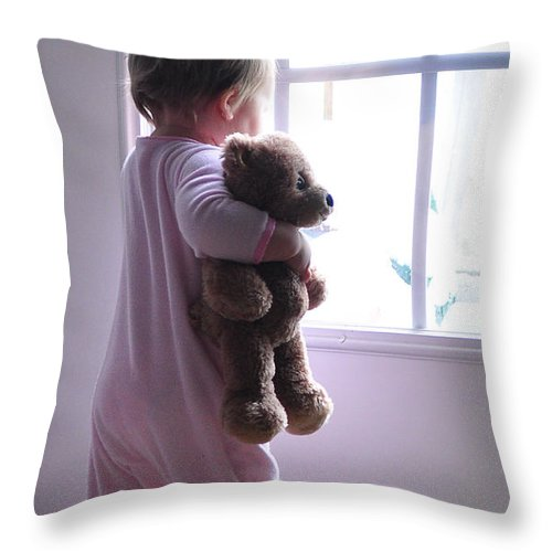 Baby Throw Pillow featuring the photograph Snow Day by Tazz Anderson