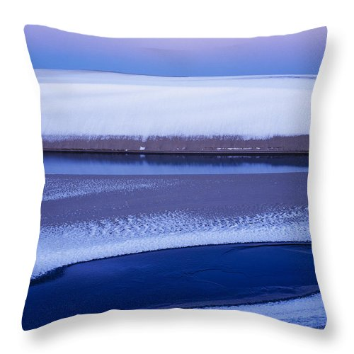 Coast Throw Pillow featuring the photograph Snow On The Dunes by Robert Potts