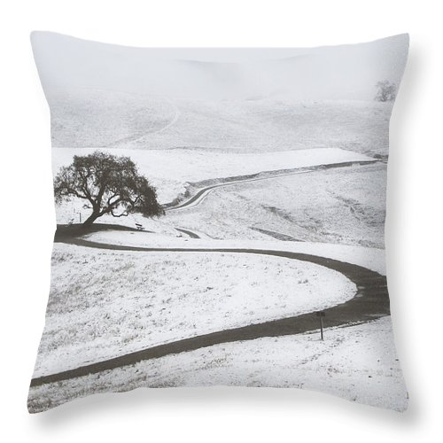 Snow Throw Pillow featuring the photograph Snow Without You by Karen W Meyer