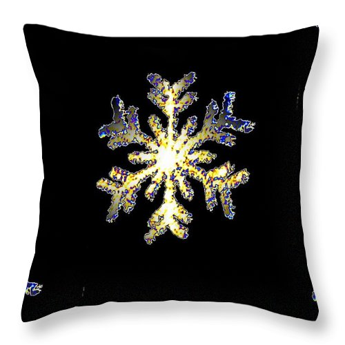 Snow Throw Pillow featuring the photograph Snowflakes by Tim Allen