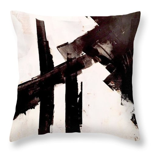 Throw Pillow featuring the painting So Long To Yesterday by Suzzanna Frank