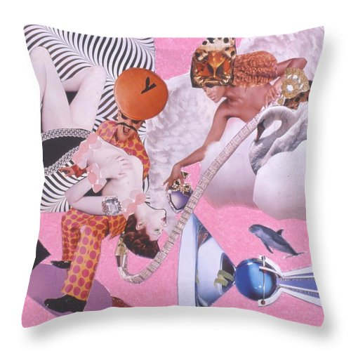Fashion Throw Pillow featuring the drawing Soap Scene #19 Author of Her Heart by Minaz Jantz