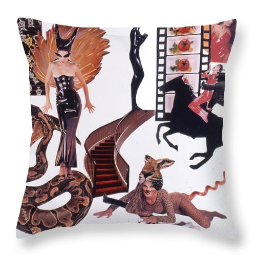Boa Throw Pillow featuring the drawing Soap Scene #22 Lust In The Wind by Minaz Jantz